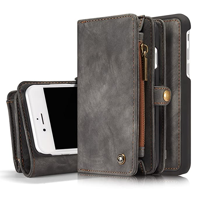competitive price 3a531 c4127 MOONORN iPhone 7 Plus/iPhone 8 Plus Wallet Case - Detachable Leather Phone  Wallet Magnetic Flip Case Shockproof Cell Phone Case with Credit Card Slots  ...