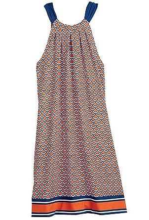 730257b9225 Mud Pie Natalie Tangerine Scallop Dress at Amazon Women s Clothing ...