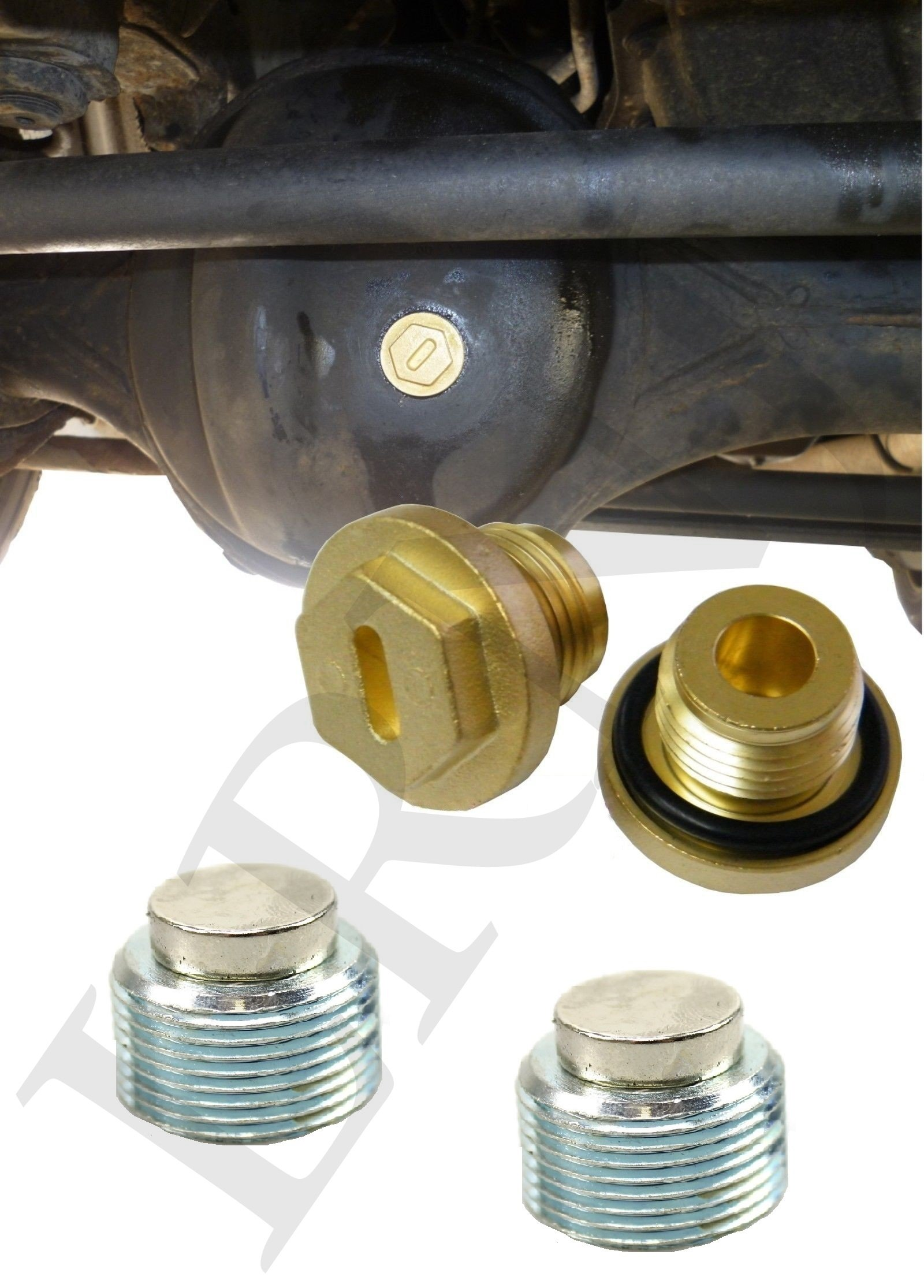 LAND ROVER DISCOVERY 2 FRONT & REAR DIFFERENTIAL AXLE OIL LEVEL & DRAIN PLUGS FTC5403 TYB500120