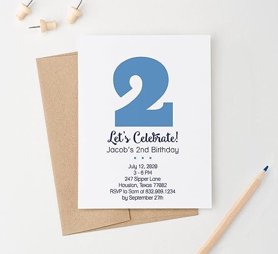 amazon com kids birthday party invitation for boys 1st birthday