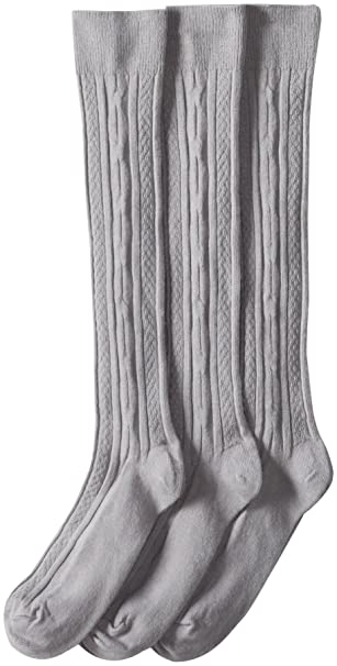 7fa7b37b1 Jefferies Socks Big Girls  School Uniform Acrylic Cable Knee High (Pack of  3)
