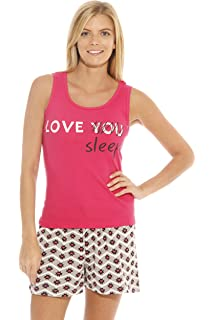 Just Love 100% Cotton Women Sleepwear Tank   Short Pajama Sets at ... 2e9db5600
