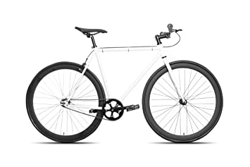 0d4c9be1b4d77 Image Unavailable. Image not available for. Colour  50cm CM Fixie Fixed  Gear Single Speed Urban Road Bike Flip-Flop Hub BICYCLES White