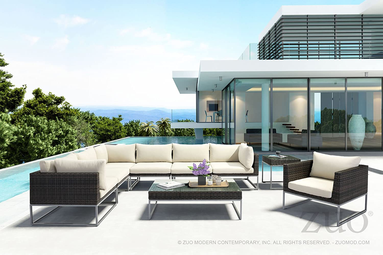 Amazon.com: Moderna silla contemporánea de patio urbano al ...