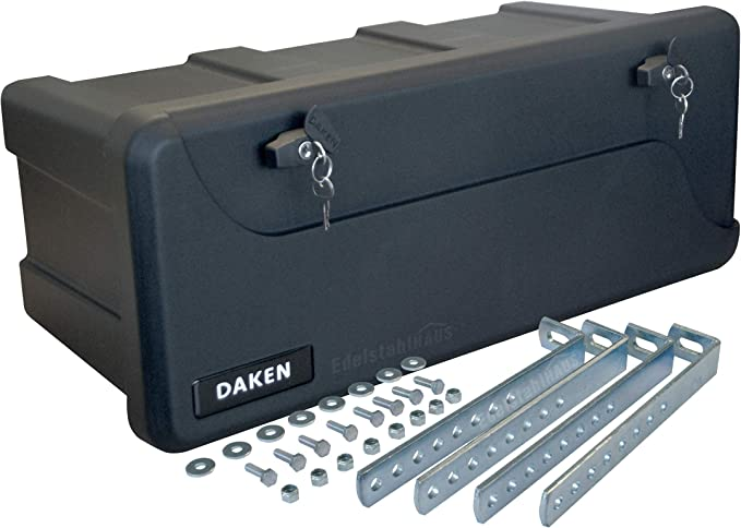 Blackit L 750 X 300 X 355 Mm Montagesatz Vh401 Edelstahlhaus Deichselbox Mit 2 Schlösser Werkzeugkasten Für Anhänger Staukiste 50 Ltr Anhängerbox Daken B50 2 Baumarkt