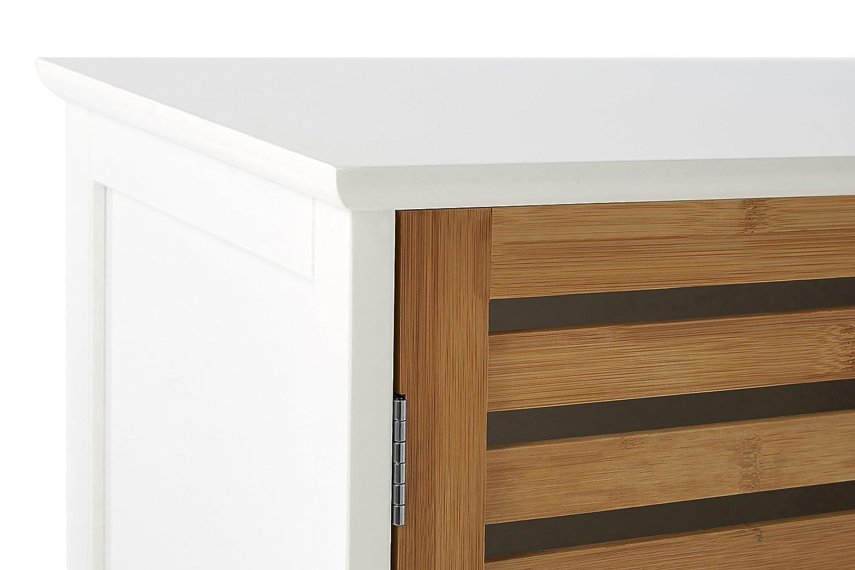 Premier Housewares 2402901 Cabinet da Pavimento in bamb/ù Bianco