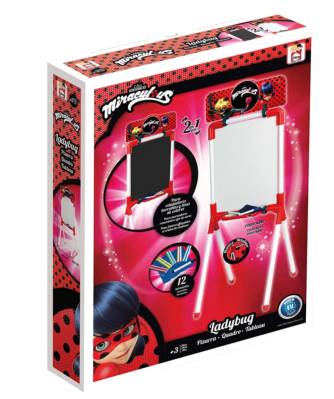 Chicos - Pizarra Ladybug para rotuladores borrables y tizas de colores (Fábrica de Juguetes 53028)