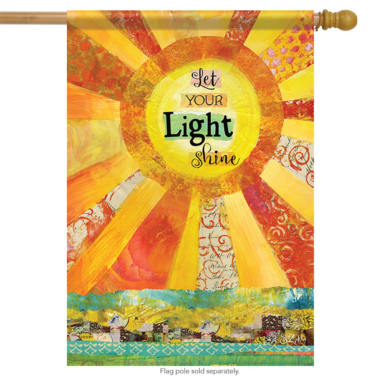 Carson Home Accents Outdoor Flag, Let Light Shine, Large
