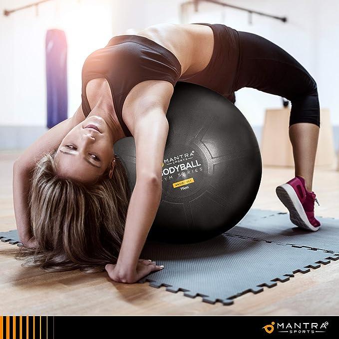 Affiche des Exercices et Pompe Anti Eclatement Ballon Grossesse Epais Sport Ou Chaise Ballon De Bureau Swiss Ball Balle de Fitness 55 cm // 65 cm // 75 cm Pour Pilates Gym Yoga Antid/érapant