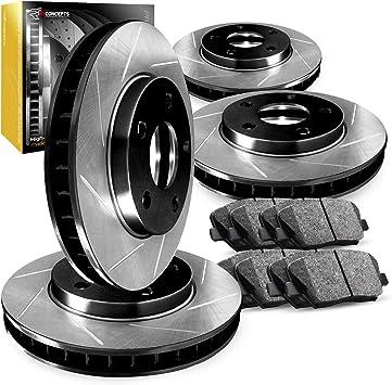 Ceramic Brake Pads Front Set R1 Carbon Geomet Slotted Brake Rotors