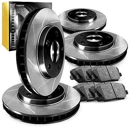 For 2009 Hyundai Genesis Front eLine Drill Slot Brake Rotors+Ceramic Brake Pads