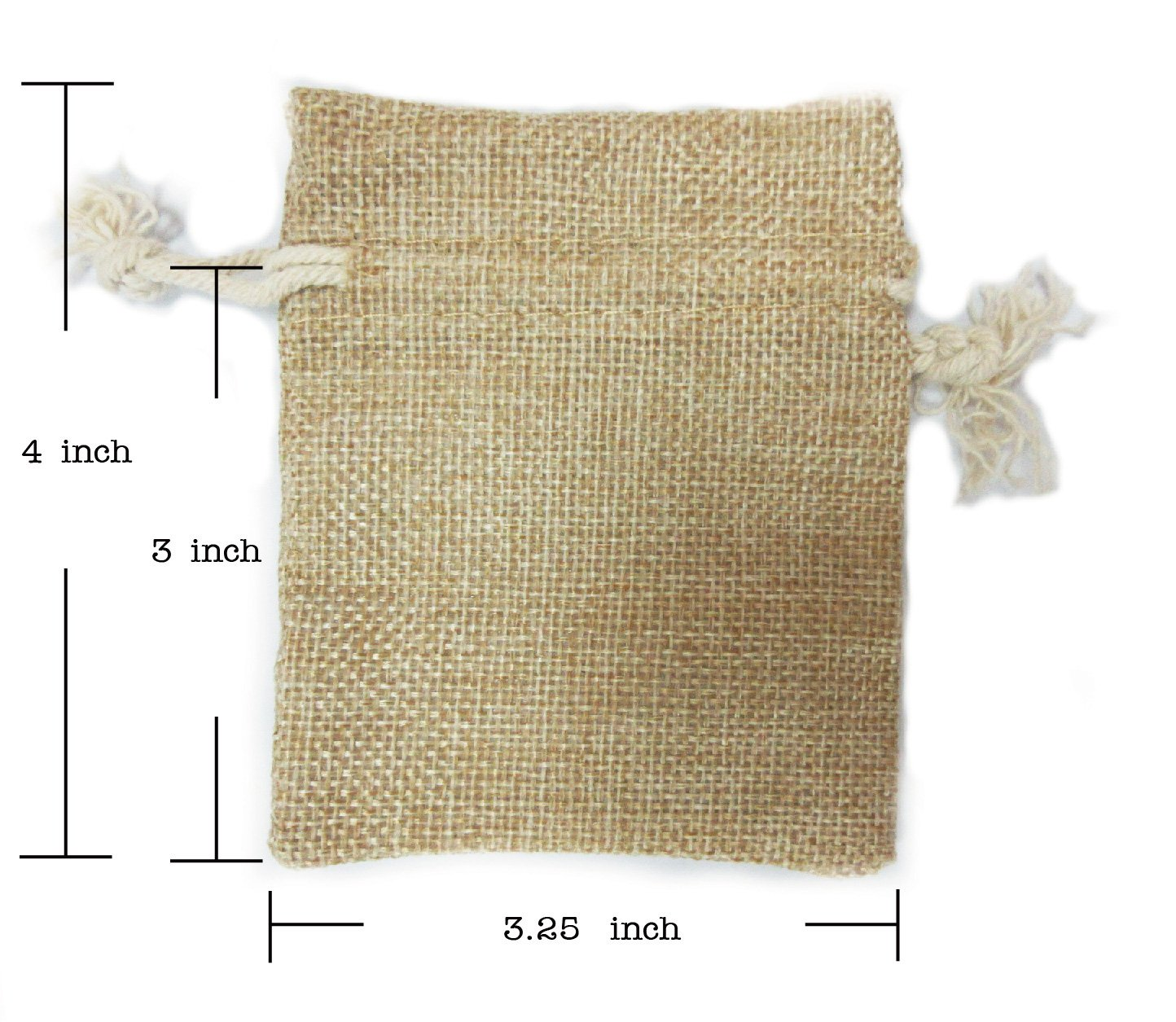 Ovee Lando Natural Color Burlap Bag with Drawstring Closure for Arts & Crafts Projects, Gift Packaging, Presents, Snacks & Jewelry (30 Pack) by Ovee Lando (Image #2)