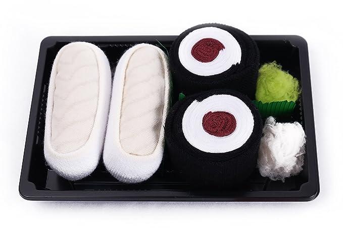 Sushi caja de calcetines - 2 pares - butterfish, Maki atún, tamaño UK 3 - 6, EUR 36 - 40: Amazon.es: Ropa y accesorios