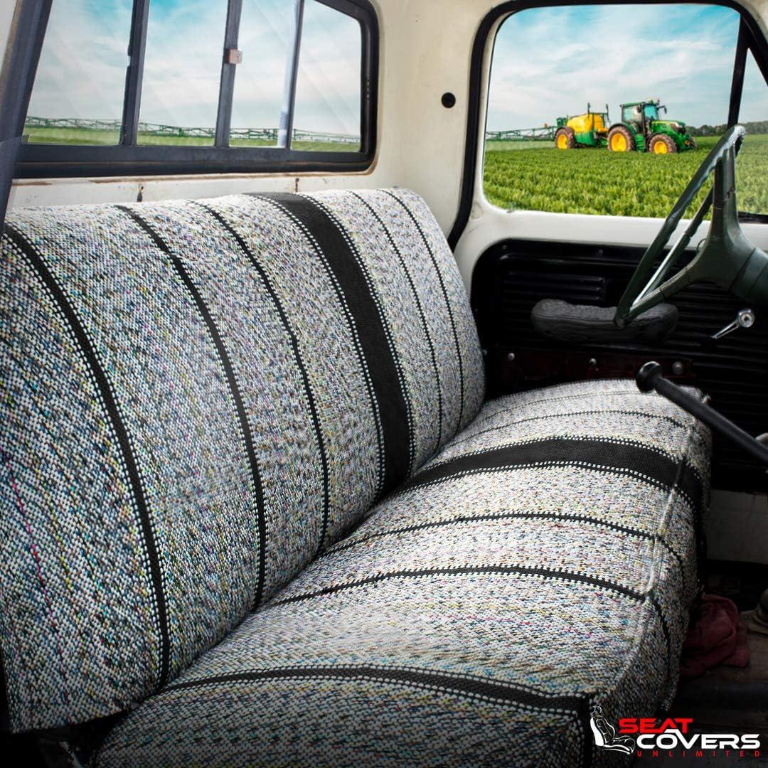 Black Ford Trucks Saddle Blanket Truck Bench Seat Cover Fits Chevrolet Dodge