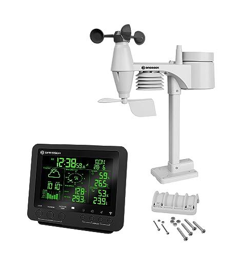 Bresser estación meteorológica (Center 5 en 1 con de 256 Colores Dispay y Multi Sensor