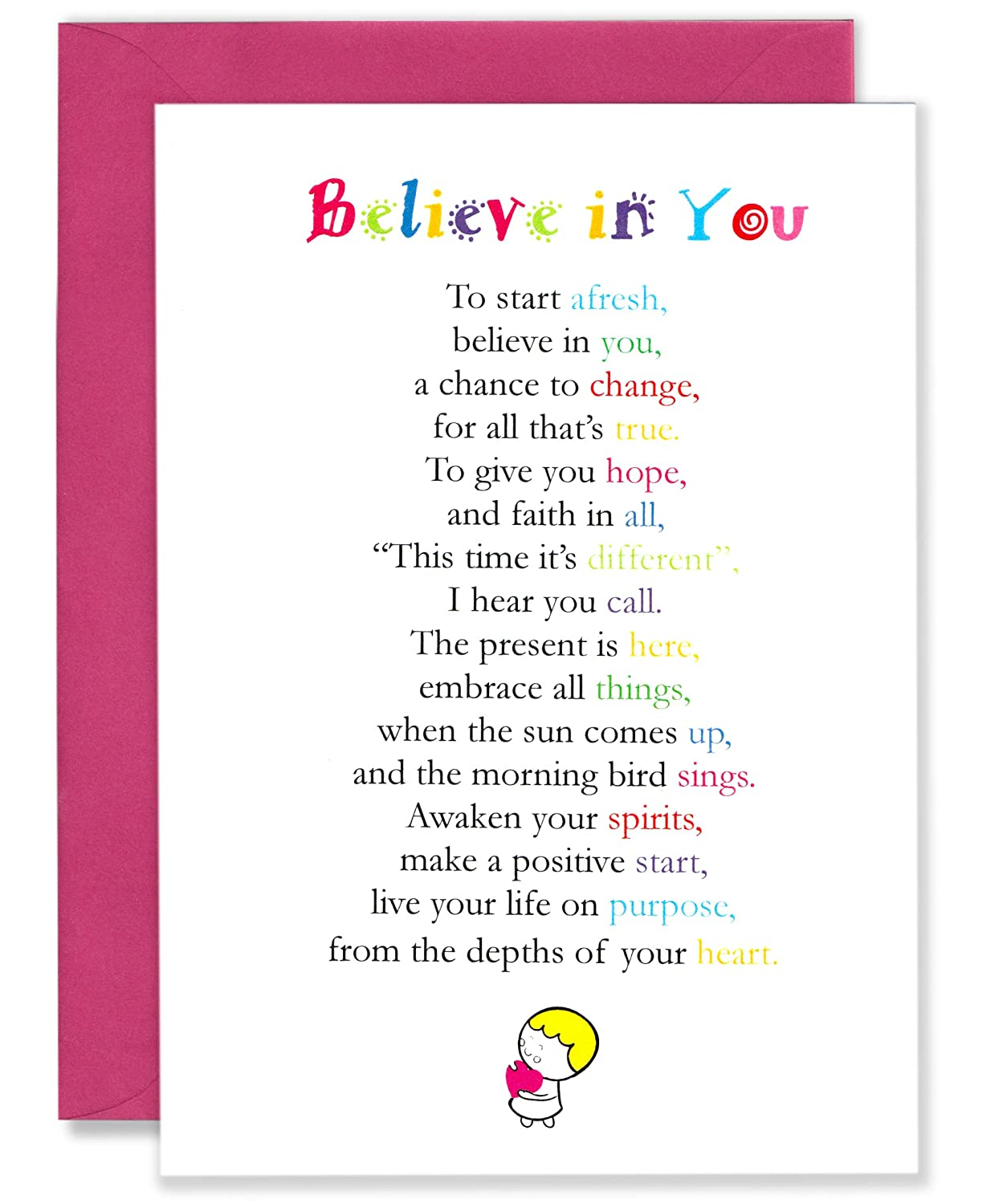 Amazon com : Believe In You- Cute Motivational and