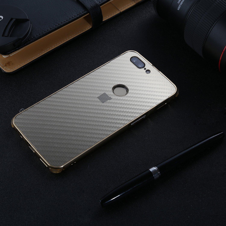 Slynmax Coque OnePlus 5T Luxe /Étui OnePlus 5T M/étal Bumper Housse Cristal Clair Etui Aluminium Pare-Choc et PC Arriere Rigide Coque Ultra Mince Lisse M/étal Cool Noble Couverture pour OnePlus 5T