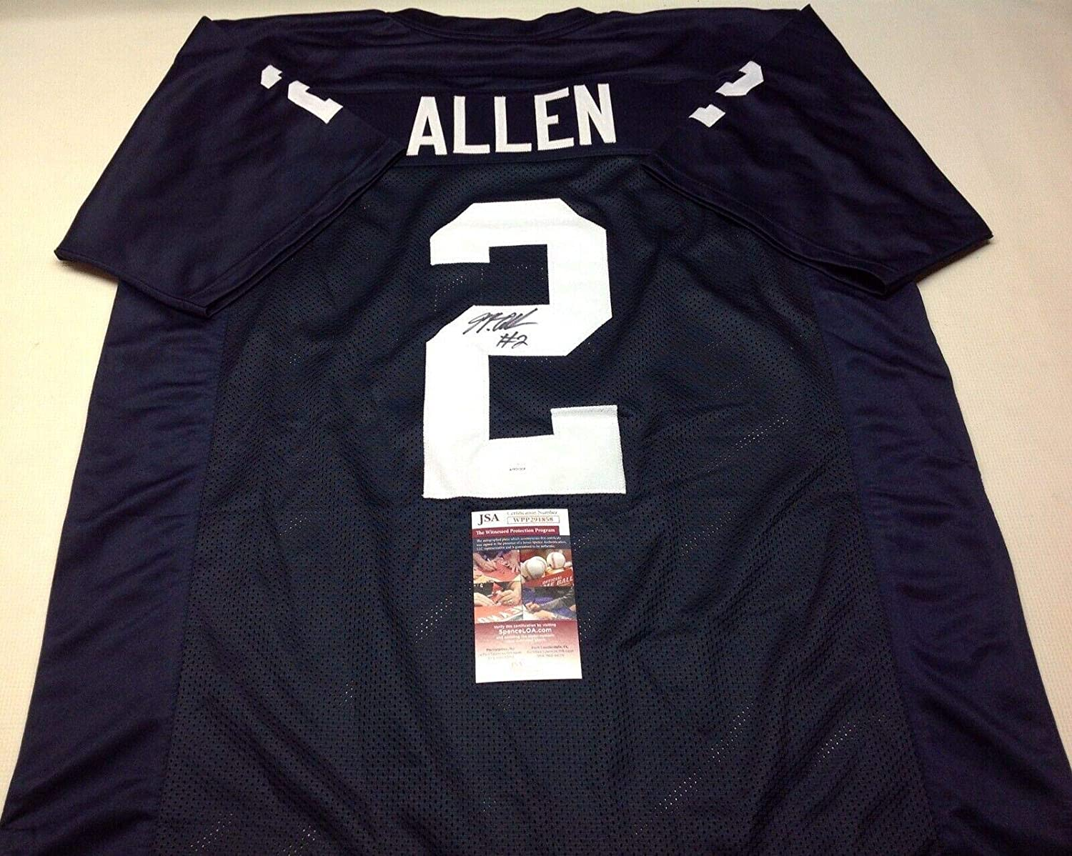 purchase cheap 6b1a8 3cbde Marcus Allen Signed Jersey - Pennstate Nittany Lions Blue ...