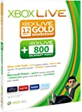 Xbox LIVE 12 month Gold membership plus 800 Microsoft Points