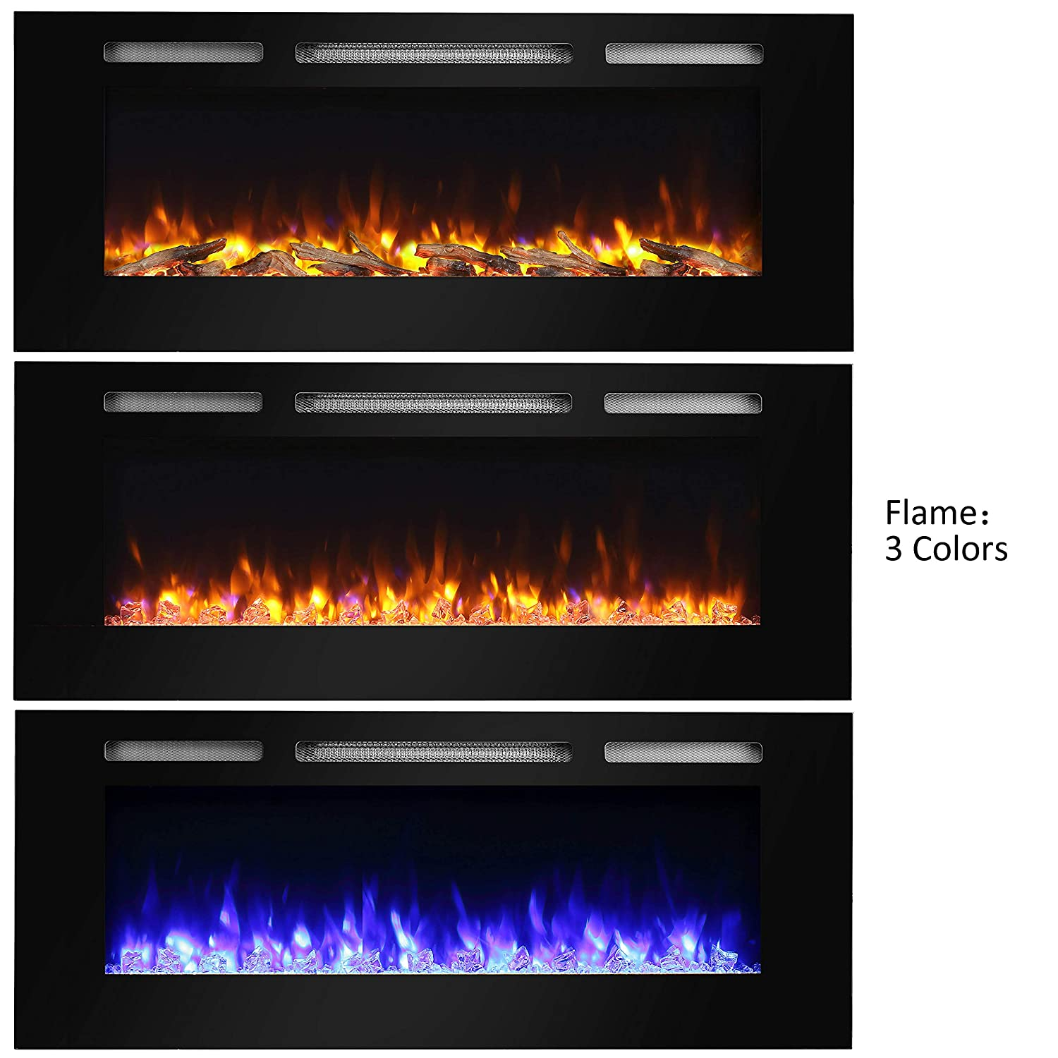 "PuraFlame Alice 50"" Electric Fireplace Black Friday Deal"