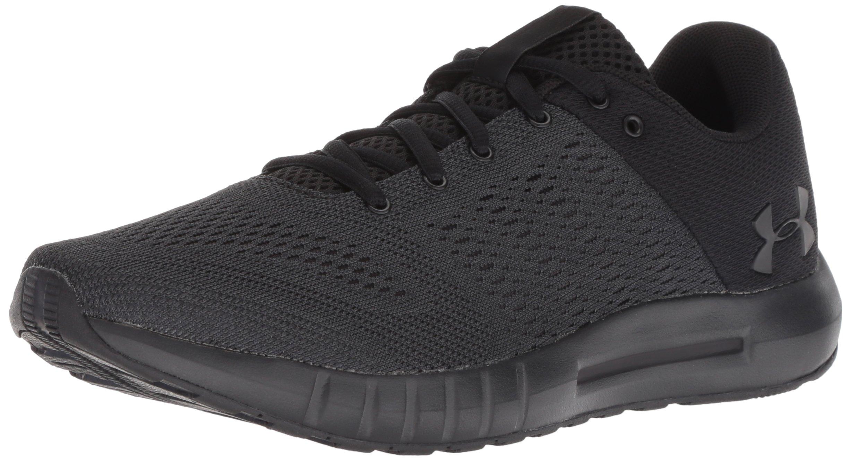 Under Armour Women's Micro G Pursuit Running Shoe, Black (004)/Black, 7