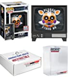 Funko Pop! NYCC Five Nights At Freddy's LolBit Sister Location Limited Edition Fall Convention Exclusive, Concierge Collectors Bundle