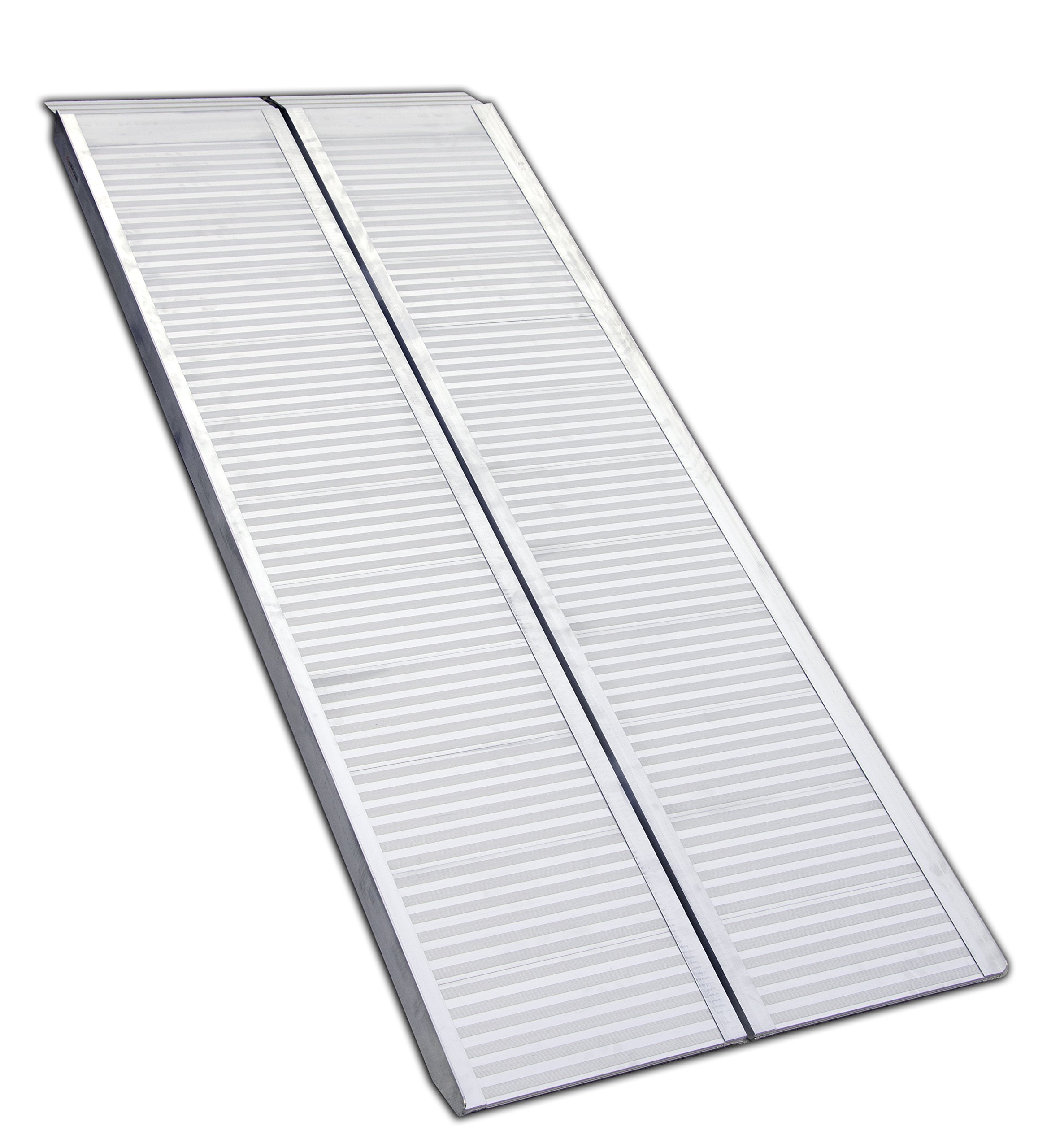 Erickson 07459 Center Folding Aluminum Ramp (1200 lb rated, 72″ x 30″) , 1 Pack by Erickson