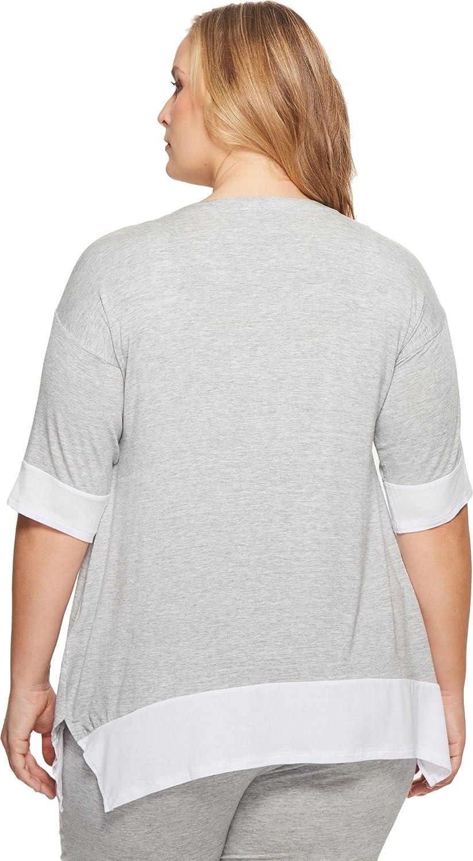 Donna Karan Womens Plus Size Modal Spandex Jersey Lounge Top