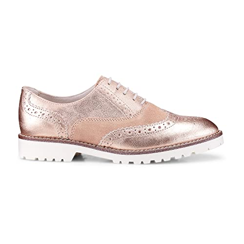 DRIEVHOLT Damen Damen Oxford Schnürschuh aus Leder, rosa