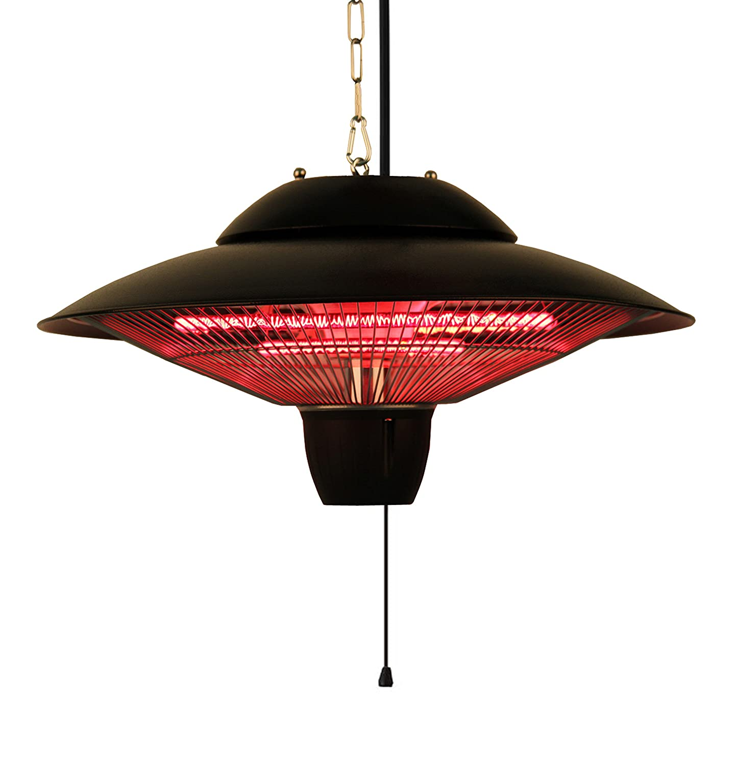 Ener-G+ Indoor/Outdoor Ceiling Electric Patio Heater, Black HEA-22000-HBR