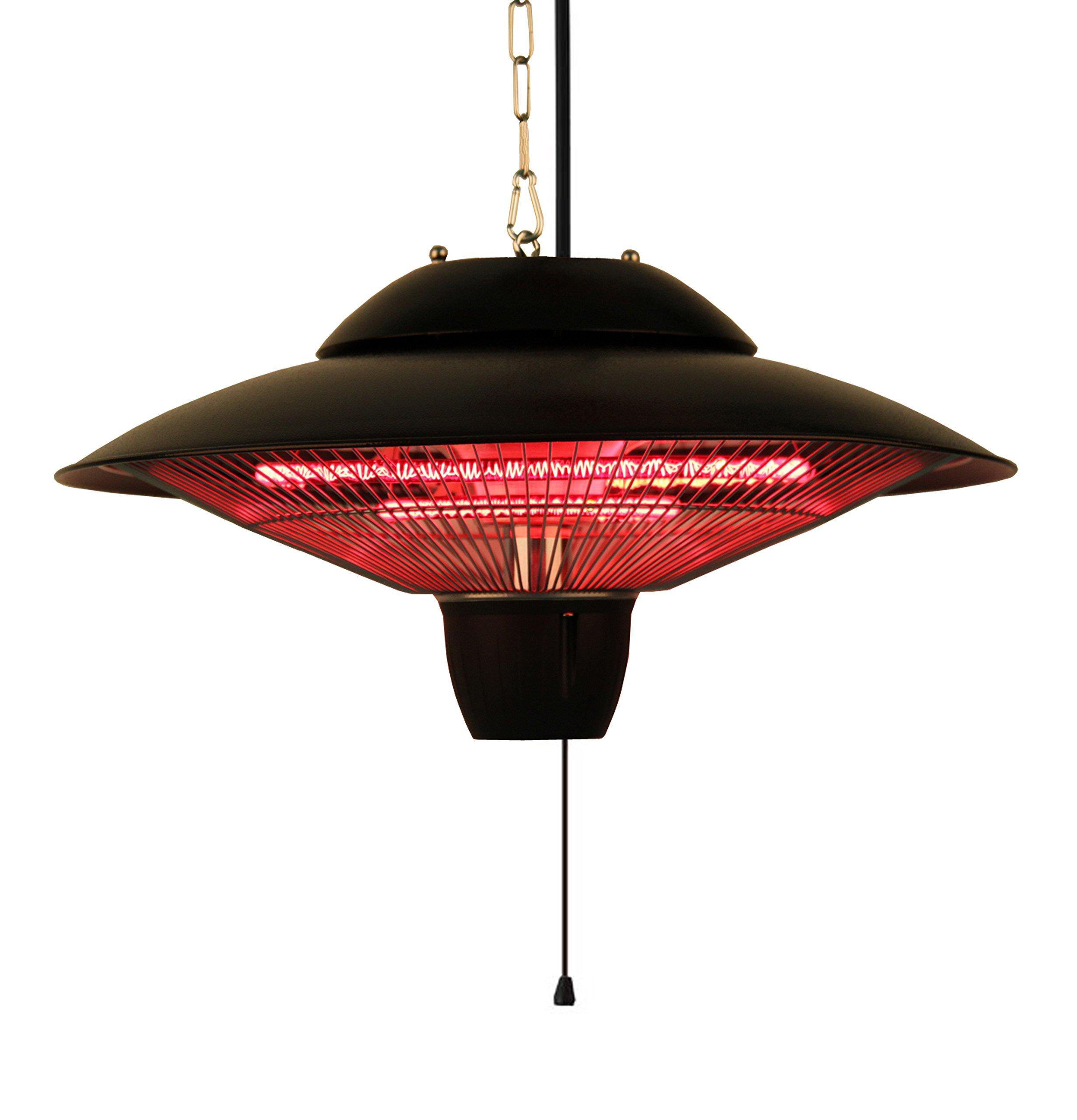 Ener-G+ Indoor/Outdoor Ceiling Electric Patio Heater, Black by Ener-G+