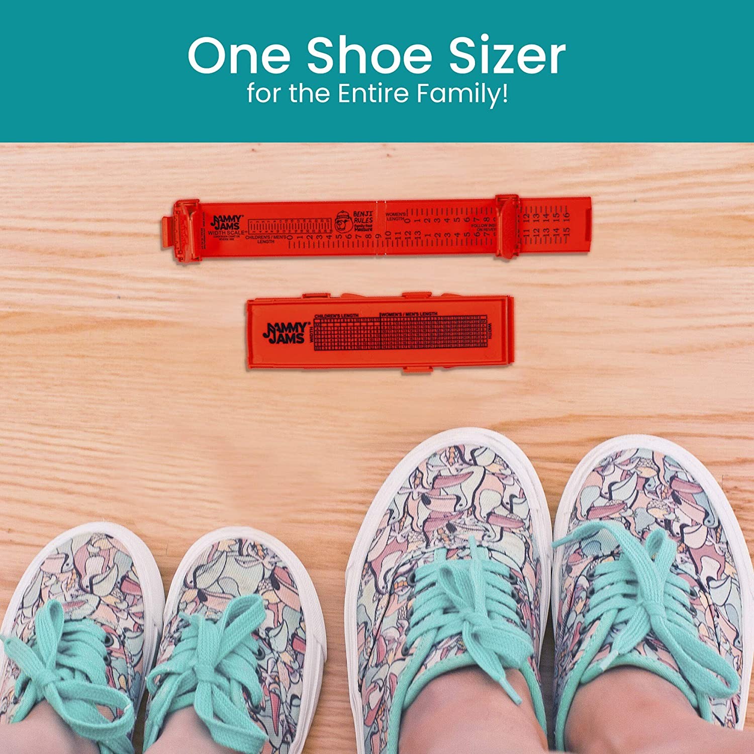Kid Foot Measuring Device Portable Family Shoe Sizer Adult U.S Sizes Baby