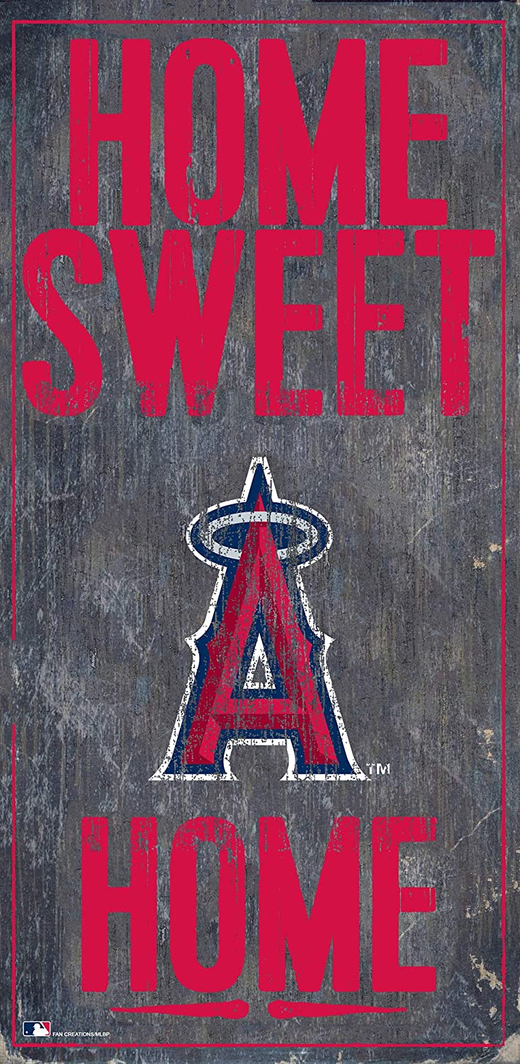Fan Creations MLB Los Angeles Angels Unisex Los Angeles Angels Home Sweet Home Sign, Team Color, 6 x 12