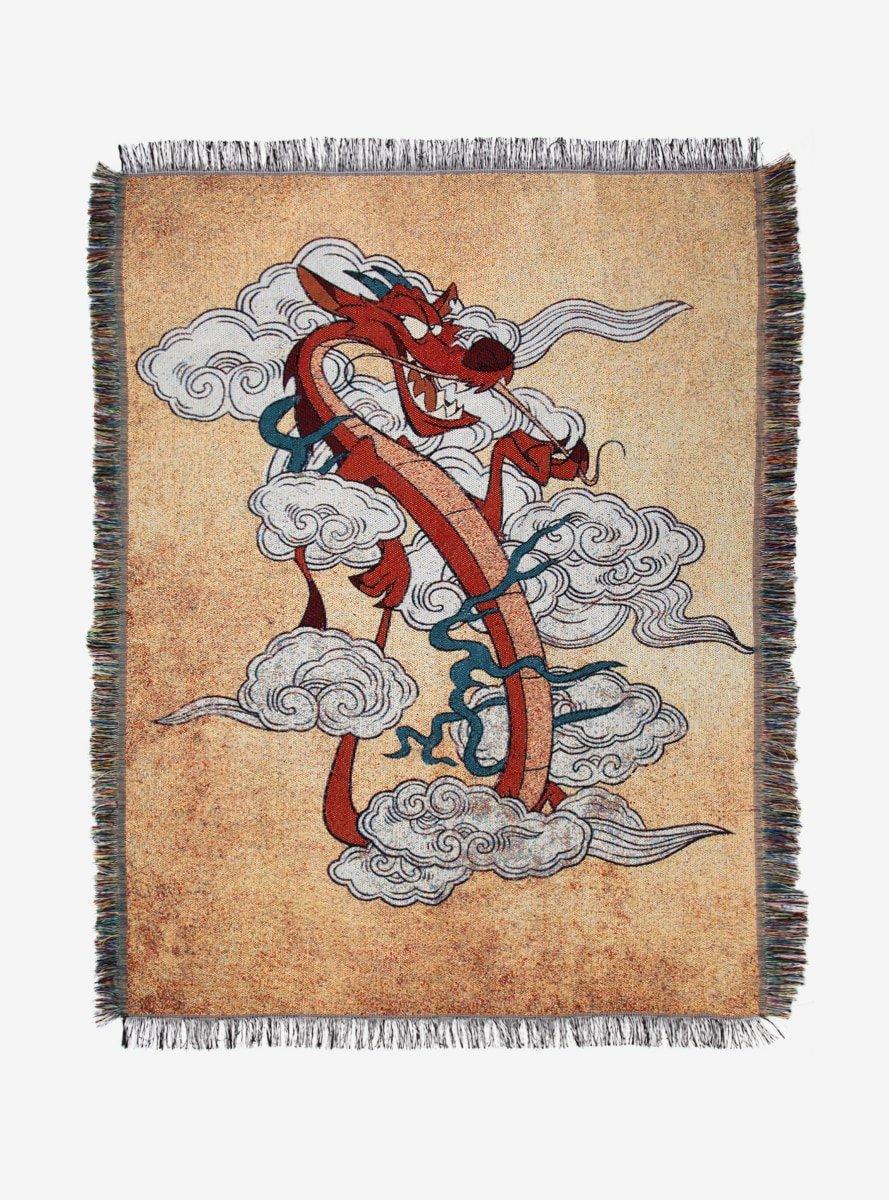 Hot Topic Disney Mulan Mushu in The Smoke Tapestry Throw