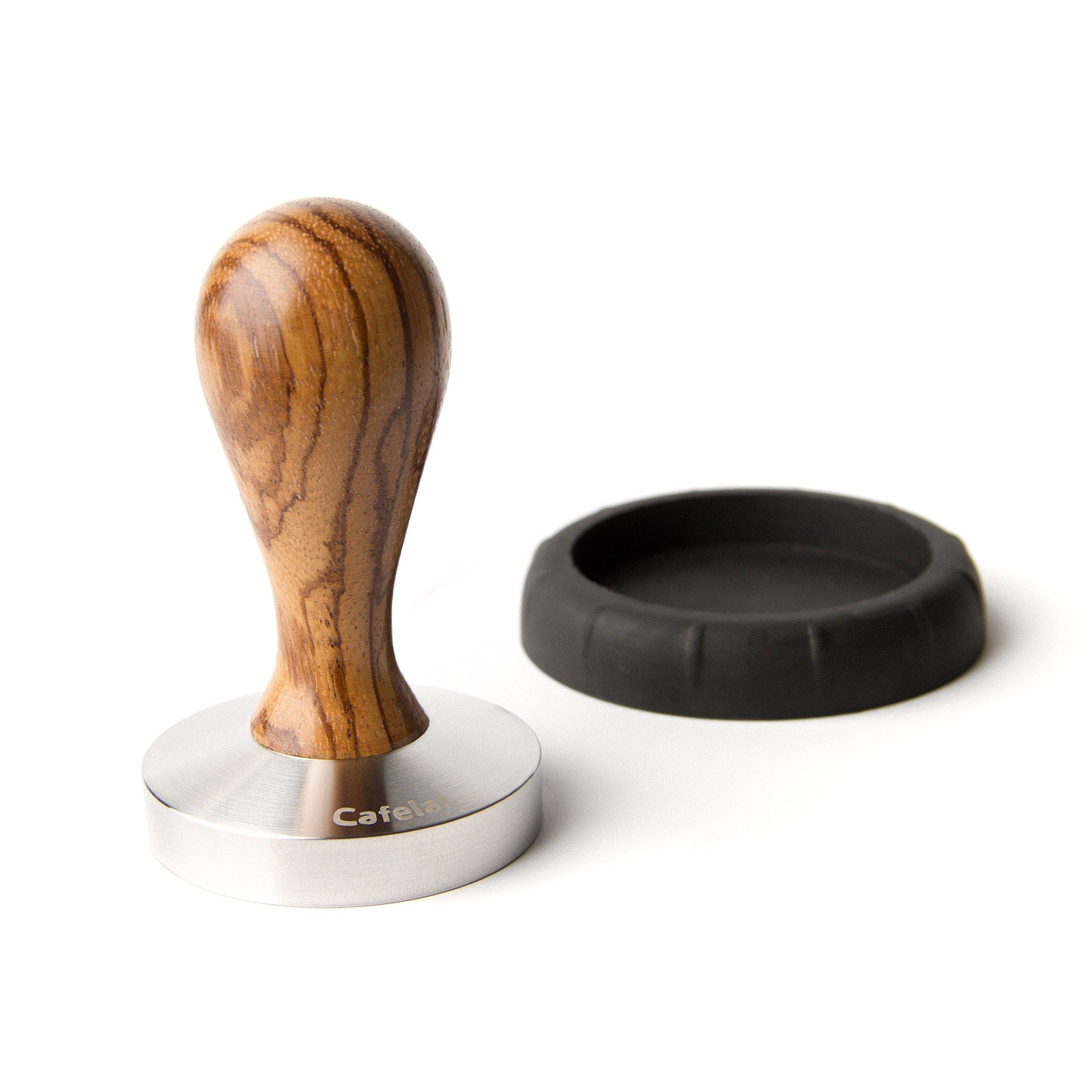 Cafelat Drop Espresso Tamper - 58mm Flat / Zebra Wood by Cafelat