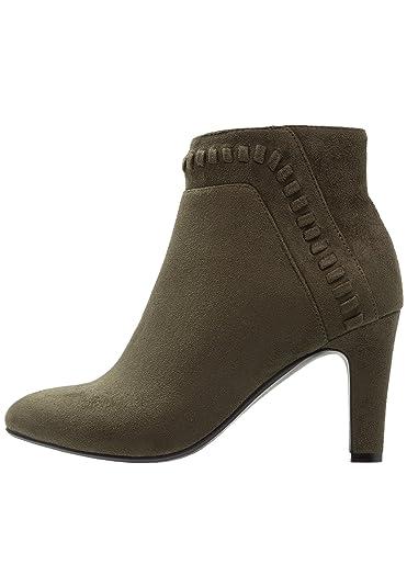 Anna Field Ankle Boots Damen in Khaki - Boots mit Trichterabsatz in Größe 36 603a1d53ae
