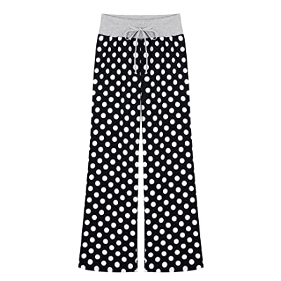 ABC-STAR Women's Pajama Pants Polka Dots Cotton Lounge Pants with Elastic Waist at Amazon Women's Clothing store
