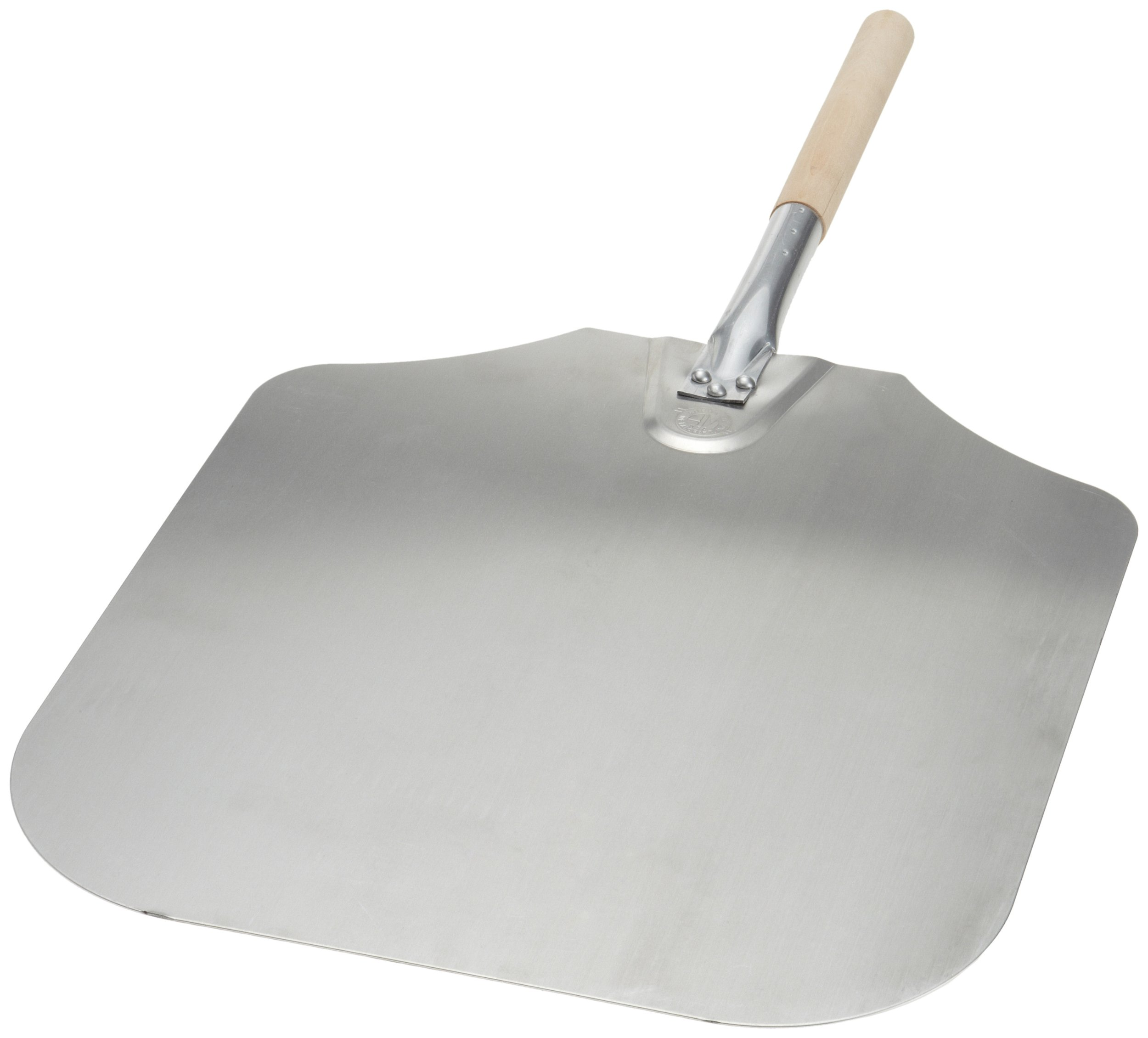 Kitchen Supply 16-Inch x 18-Inch Aluminum Pizza Peel with Wood Handle