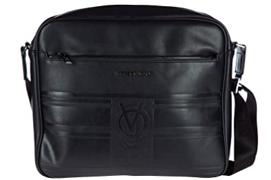 6c10fc98cb89 Versace Jeans men s leather cross-body messenger shoulder bag blu ...