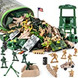 Divwa 160 Piece Army Men Toys for Boys, World War II Military Toy Soldier Action Figures Battlefield Army Base Playset and Ac
