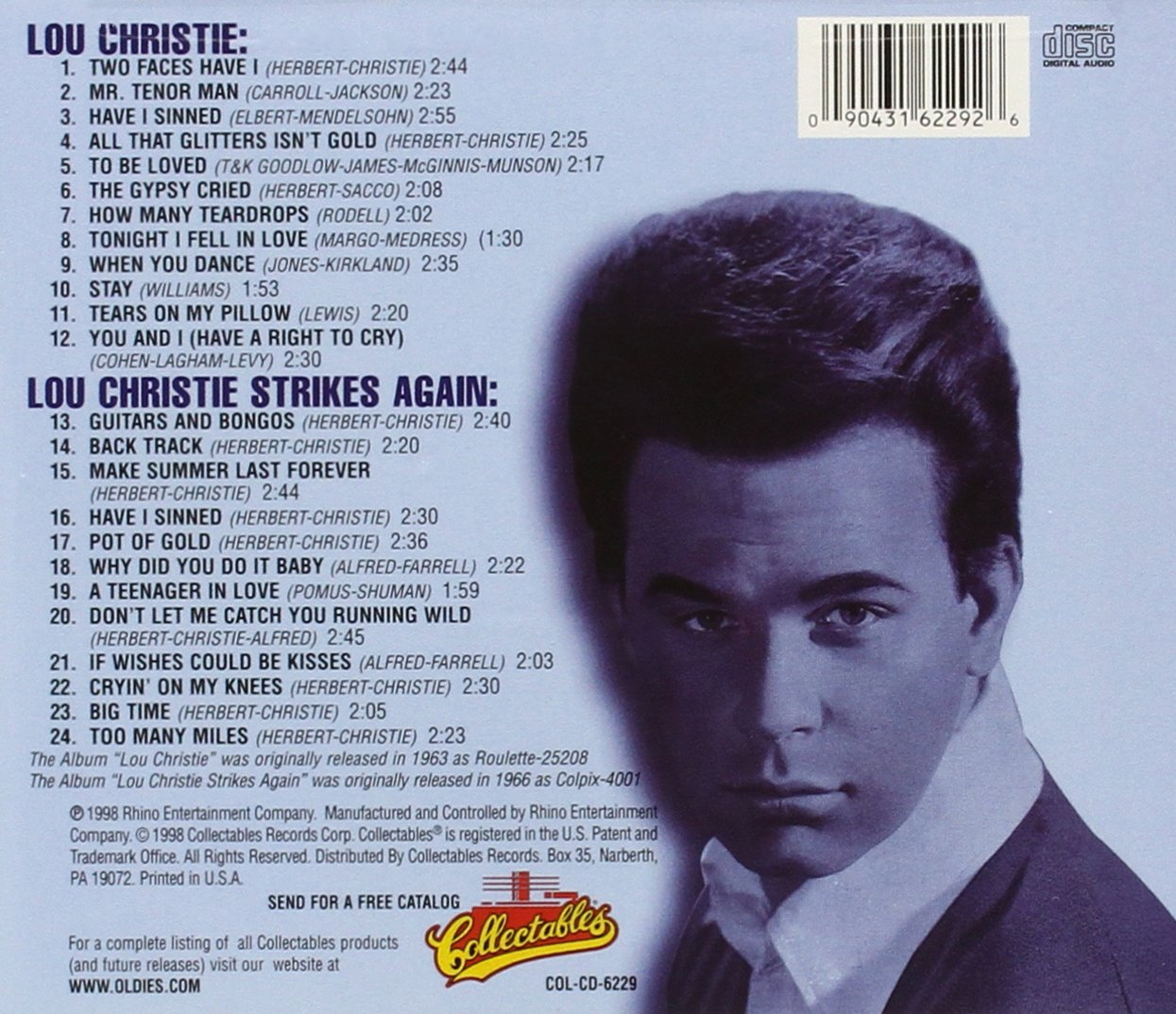 Lou Christie/Strikes Again by Collectables