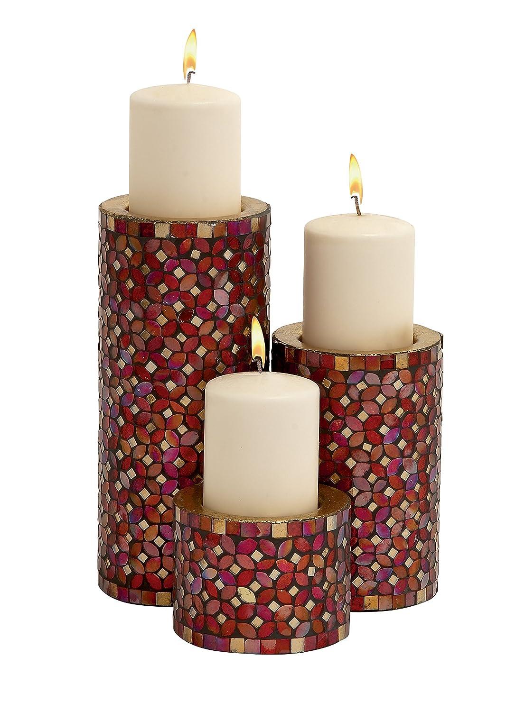 amazon com deco 79 23897 metal mosaic candle holder s 3 11 amazon com deco 79 23897 metal mosaic candle holder s 3 11