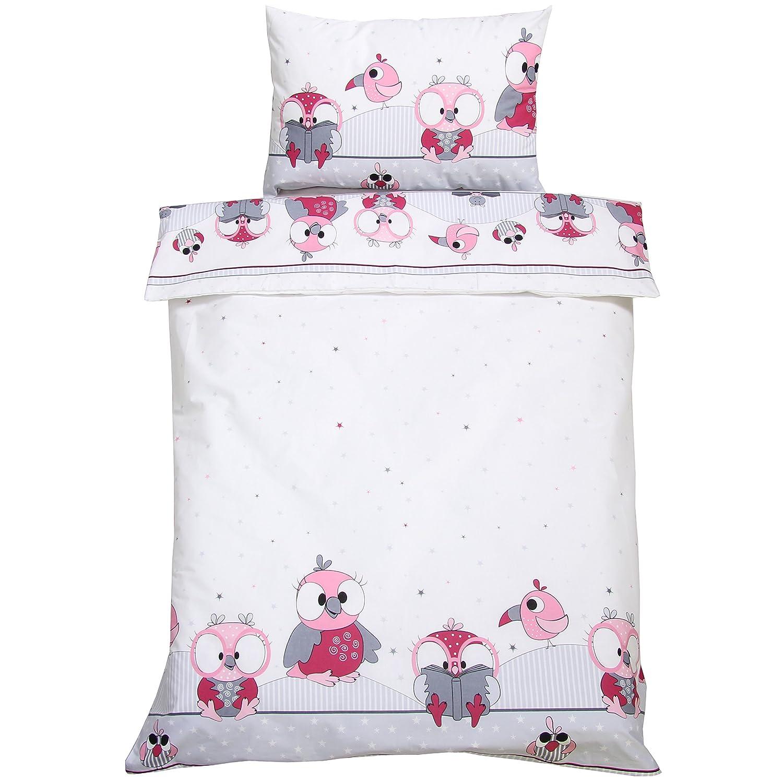 Kinderbettwäsche Bettwäsche Baby Kinder Decke Kissen Bezug 100x135 Design 11 NEU ei-on