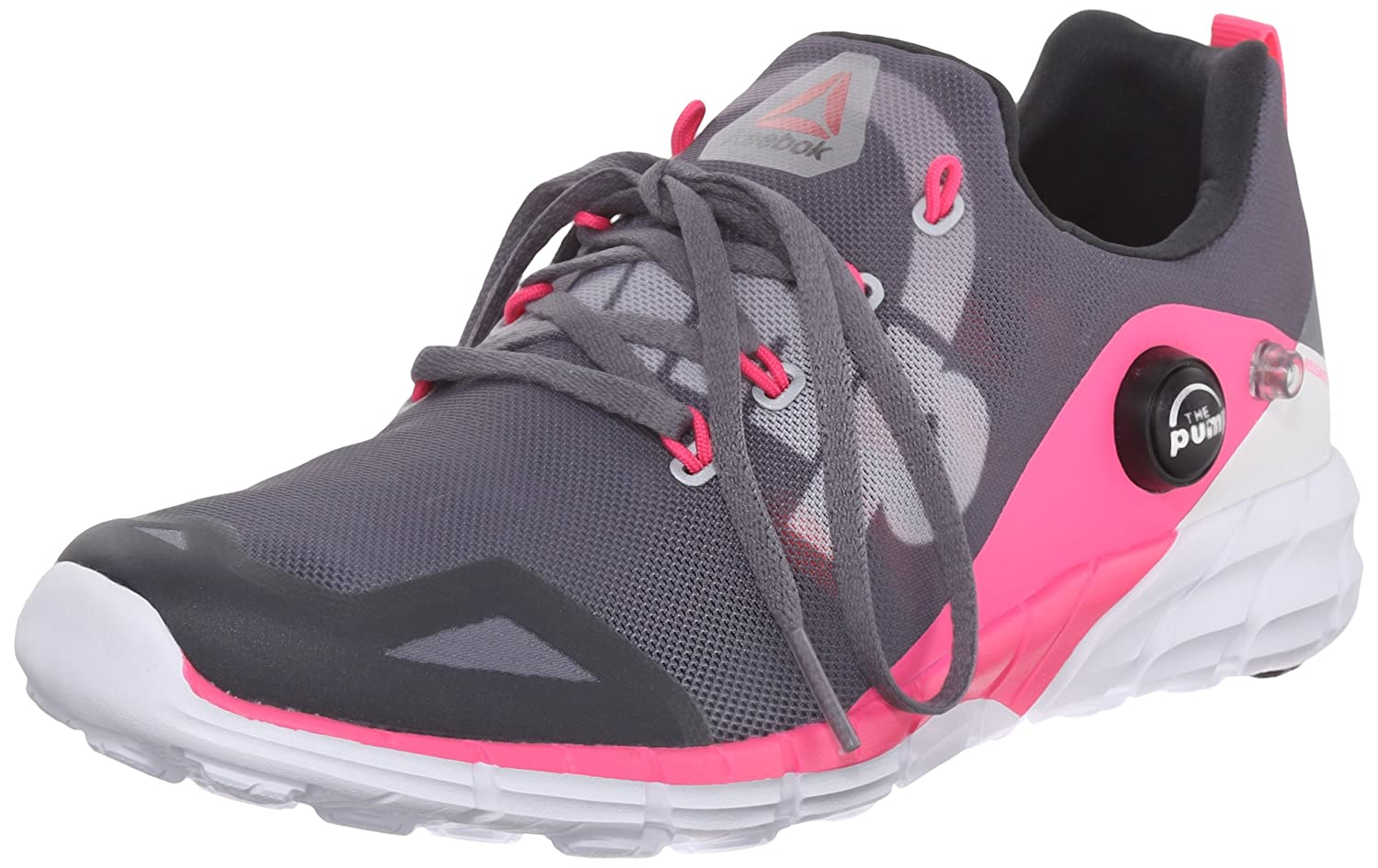 Reebok Women's Zpump Fusion 2.0 Running Shoe B010Y5YMWW 8.5 B(M) US|Alloy/Tin Grey/Solar Pink/Coal/White