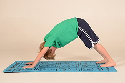 Kids Yoga Mat, Sky Blue