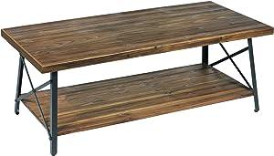 "Emerald Home T100-00-05 Chandler Coffee Table, 45"", Natural Fir"