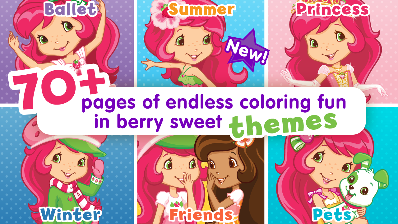 Amazon Strawberry Shortcake Jumbo Coloring Book Appstore For Android