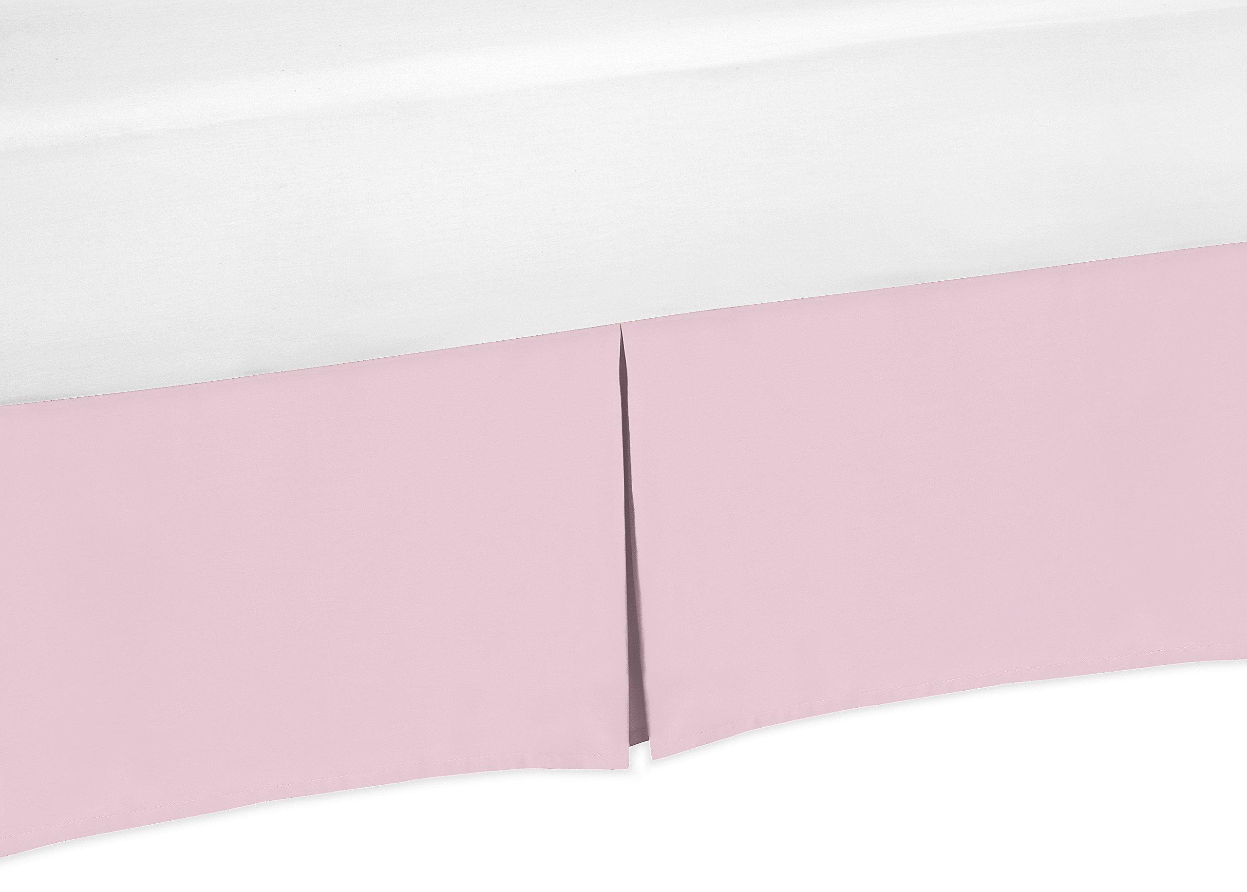 Sweet Jojo Designs Light Pink Crib Bed Skirt for Baby Bedding Sets