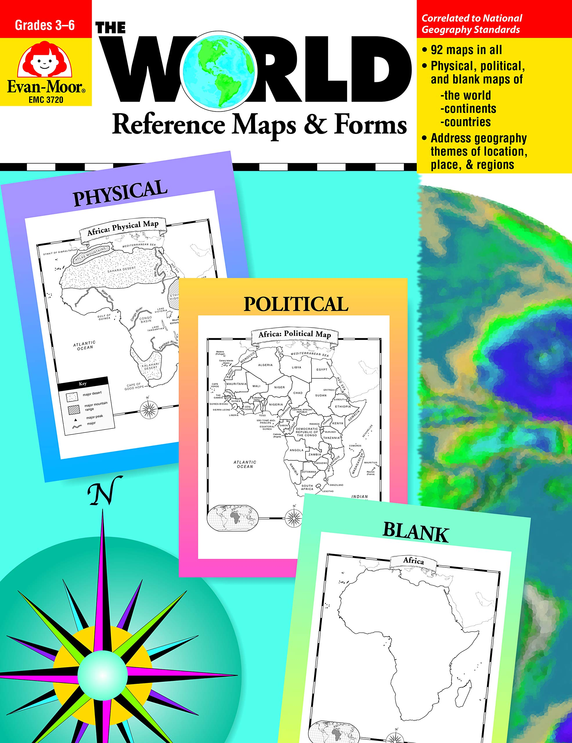 Amazon.com: The World Reference & Map Forms (World & Us Maps ... on map of african countries, map of southern europe, map of djibouti, map of chile, map of africa, map of lesotho, map of latvia, map of madagascar, map of mozambique, map of zambia, map of ghana, map of botswana, map of spain, map of bolivia, map of philippines, map of armenia, map of argentina, map of albania, map of burkina faso, map of namibia,
