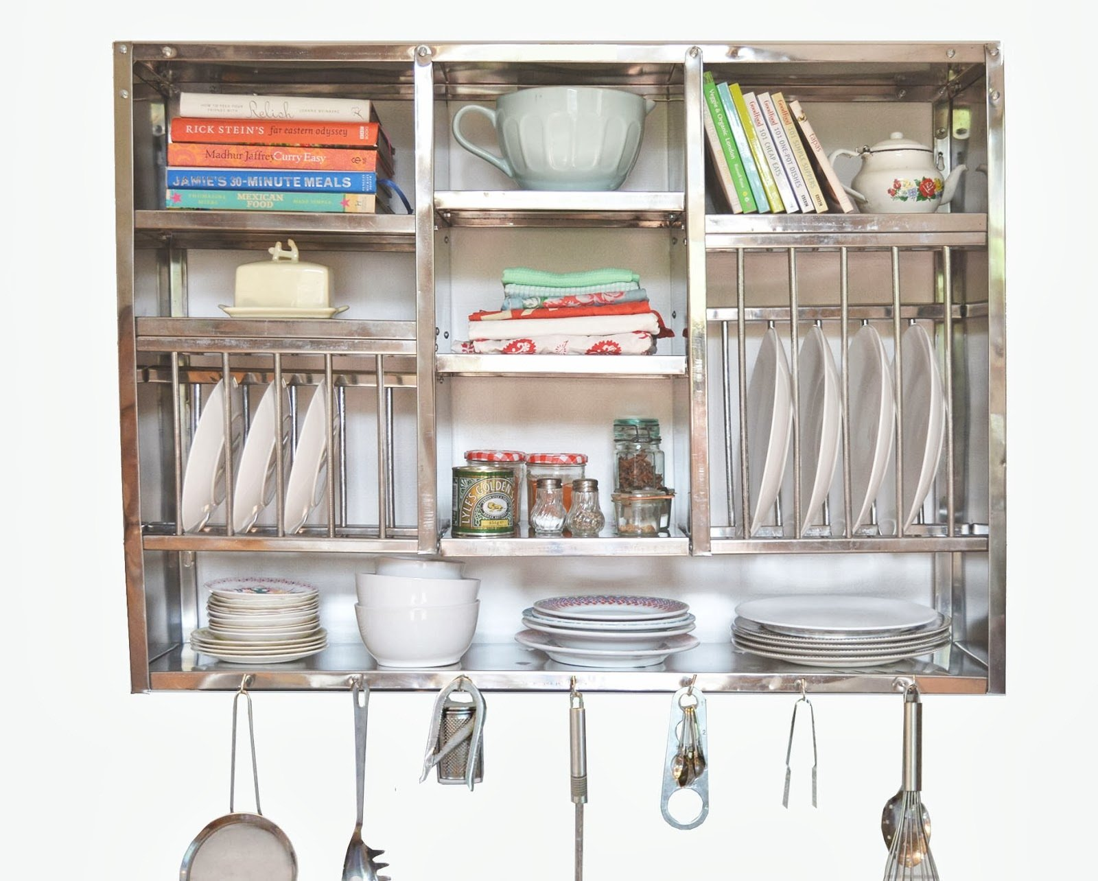 Dish Drying Display Rack Stainless Steel - Hand Made (76x24x107 Cm)
